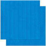 Bo Bunny Press - Double Dot Designs Collection - 12 x 12 Double Sided Paper - Stripe - Blueberry