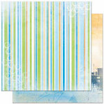 Bo Bunny Press - Barefoot and Bliss Collection - 12 x 12 Double Sided Paper - Stripe