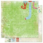 Bo Bunny - Blitzen Collection - Christmas - 12 x 12 Double Sided Paper - Stockings