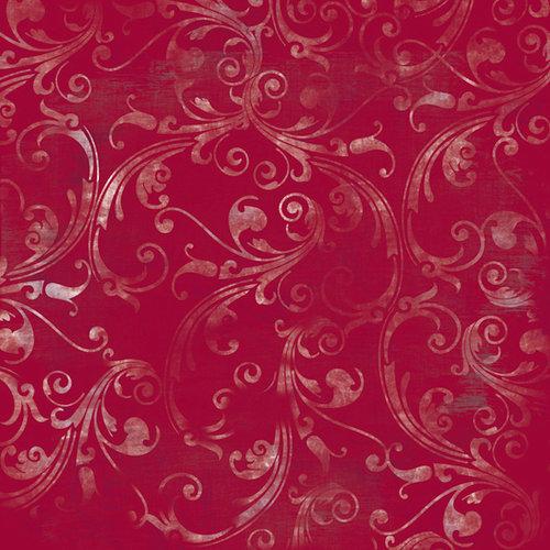 Bo Bunny Press - Snowy Serenade Collection - 12 x 12 Glittered Paper - Snowy Serenade Concerto