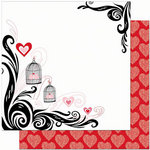 Bo Bunny Press - Crush Collection - Valentine - 12 x 12 Double Sided Paper - Crush