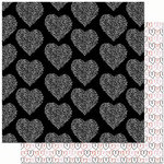Bo Bunny Press - Crush Collection - Valentine - 12 x 12 Double Sided Paper - Crush Bliss