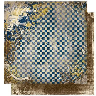 Bo Bunny Press - Cambridge Collection - 12 x 12 Double Sided Paper - Cambridge Chess