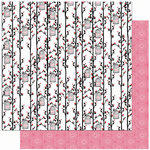 Bo Bunny Press - Crush Collection - Valentine - 12 x 12 Double Sided Paper - Crush Darling