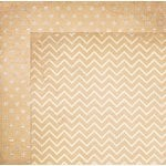 BoBunny - Double Dot Designs Collection - 12 x 12 Double Sided Paper - Chevron - Chiffon