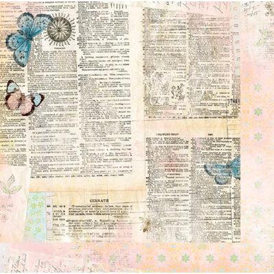 Bo Bunny Press - Country Garden Collection - 12 x 12 Double Sided Paper - Almanac