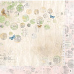 Bo Bunny - Country Garden Collection - 12 x 12 Double Sided Paper - Glimpse