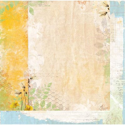 Bo Bunny - Country Garden Collection - 12 x 12 Double Sided Paper - Morning Sunrise