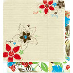 Bo Bunny Press - Calypso Collection - 12 x 12 Double Sided Paper - Calypso Hope, CLEARANCE