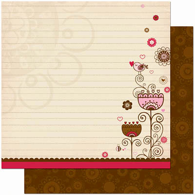 Bo Bunny Press - Crazy Love Collection - Valentine - 12 x 12 Double Sided Paper - Crazy Love Happy Together
