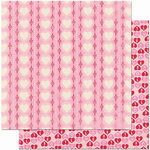 Bo Bunny Press - Crazy Love Collection - Valentine - 12 x 12 Double Sided Paper - Crazy Love Have a Heart