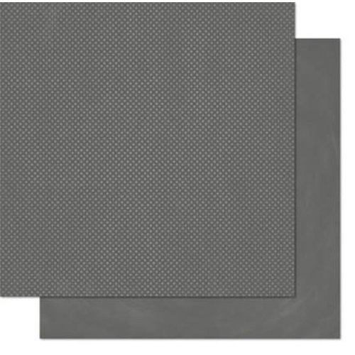 BoBunny - Double Dot Designs - 12 x 12 Double Sided Paper - Charcoal
