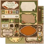 Bo Bunny - Camp-A-Lot Collection - 12 x 12 Double Sided Paper - Cut Outs