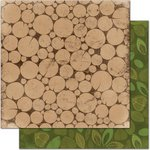 Bo Bunny - Camp-A-Lot Collection - 12 x 12 Double Sided Paper - Firewood