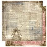 Bo Bunny Press - Cambridge Collection - 12 x 12 Double Sided Paper - Cambridge Post
