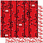 Bo Bunny Press - Crush Collection - Valentine - 12 x 12 Double Sided Paper - Crush Smooch