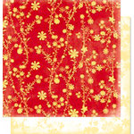 Bo Bunny Press - Calypso Collection - 12 x 12 Double Sided Paper - Calypso Love, CLEARANCE