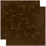 Bo Bunny - Double Dot Designs Collection - 12 x 12 Double Sided Paper - Flourish - Coffee