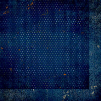 BoBunny - Double Dot Designs Collection - 12 x 12 Double Sided Paper - Vintage - Dark Denim