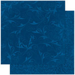 Bo Bunny Press - Double Dot Designs Collection - 12 x 12 Double Sided Paper - Flourish - Dark Denim