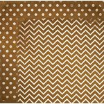 Bo Bunny - Double Dot Designs Collection - 12 x 12 Double Sided Paper - Chevron - Decaf