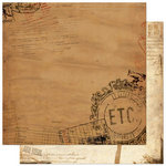 Bo Bunny - Et Cetera Collection - 12 x 12 Double Sided Paper - Et Cetera