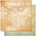Bo Bunny - Et Cetera Collection - 12 x 12 Double Sided Paper - Geography