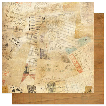 Bo Bunny - Et Cetera Collection - 12 x 12 Double Sided Paper - Odds and Ends