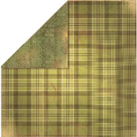 Bo Bunny Press - Bella Journee - Double Sided Paper - Eire Collection - Eire Tartan