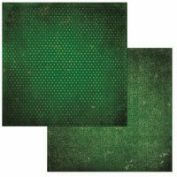 BoBunny - Double Dot Designs Collection - 12 x 12 Double Sided Paper - Vintage - Evergreen