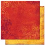 Bo Bunny Press - Forever Fall Collection - 12 x 12 Double Sided Paper - Blaze