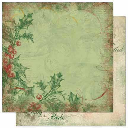 Bo Bunny - Father Christmas Collection - 12 x 12 Double Sided Paper - Berries