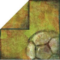 Bo Bunny Press - Futbol Soccer Collection - 12x12 Double Sided Paper - Goal