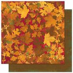 Bo Bunny - Forever Fall Collection - 12 x 12 Double Sided Paper - Foliage