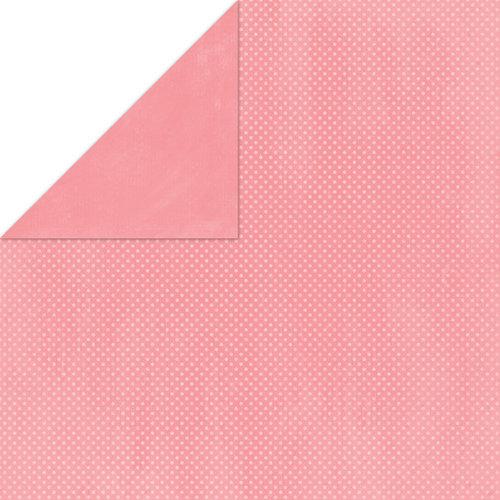 Bo Bunny Press - Double Dot Paper - 12 x 12 Double Sided Paper - Flamingo Dot