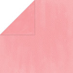 Bo Bunny Press - Double Dot Paper - 12 x 12 Double Sided Paper - Flamingo Dot