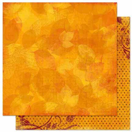Bo Bunny - Forever Fall Collection - 12 x 12 Double Sided Paper - Impressions