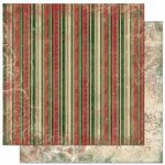Bo Bunny Press - Father Christmas Collection - 12 x 12 Double Sided Paper - Stripe