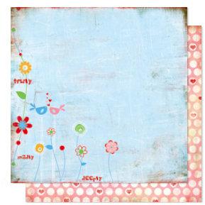 Bo Bunny Press - Flirty Collection - 12 x 12 Double Sided Paper - Flirty
