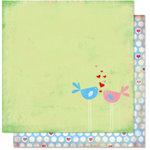 Bo Bunny Press - Flirty Collection - 12 x 12 Double Sided Paper - Flirty Birds