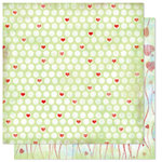 Bo Bunny Press - Flirty Collection - 12 x 12 Double Sided Paper - Flirty Dots, CLEARANCE