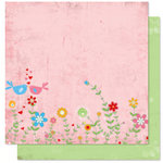 Bo Bunny Press - Flirty Collection - 12 x 12 Double Sided Paper - Flirty Flower