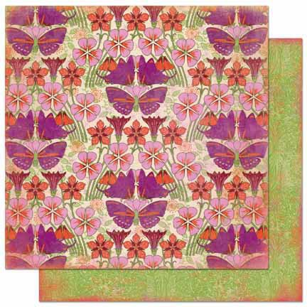 Bo Bunny - Garden Girl Collection - 12 x 12 Double Sided Paper - Garden Girl