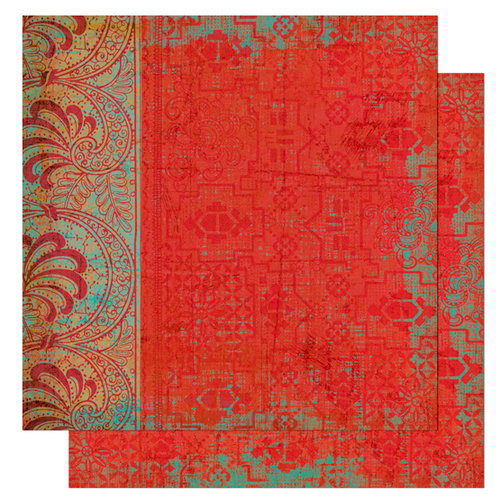 Bo Bunny Press - Gypsy Collection - 12 x 12 Double Sided Paper - Gypsy Saffron