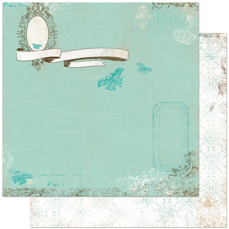 Bo Bunny Press - Gabrielle Collection - 12 x 12 Double Sided Paper - Cameo