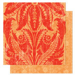 Bo Bunny Press - Gypsy Collection - 12 x 12 Double Sided Paper - Gypsy Henna