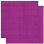 Bo Bunny Press - Double Dot Designs Collection - 12 x 12 Double Sided Paper - Journal - Grape