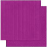 Bo Bunny Press - Double Dot Designs Collection - 12 x 12 Double Sided Paper - Stripe - Grape