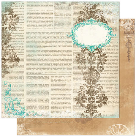Bo Bunny - Gabrielle Collection - 12 x 12 Double Sided Paper - Unwritten
