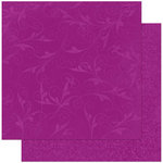 Bo Bunny Press - Double Dot Designs Collection - 12 x 12 Double Sided Paper - Flourish - Grape